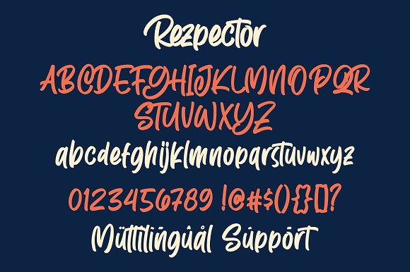 Rezpector - Stylish Display Font in Display Fonts - product preview 7