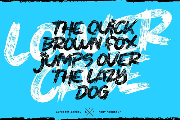 THEY LIVE PAINT BRUSH FONT in Display Fonts - product preview 1