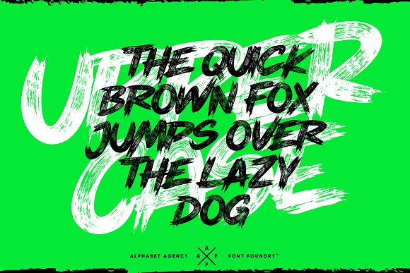 THEY LIVE PAINT BRUSH FONT in Display Fonts - product preview 2