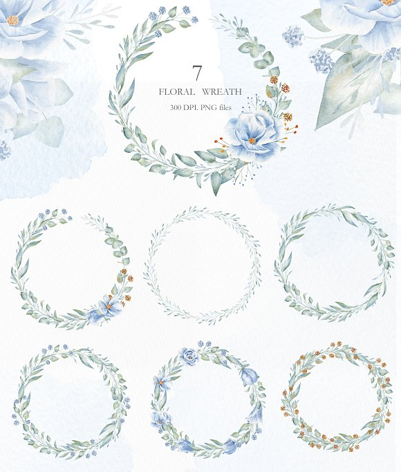 Winter Morning Watercolor Set in Illustrations - product preview 2
