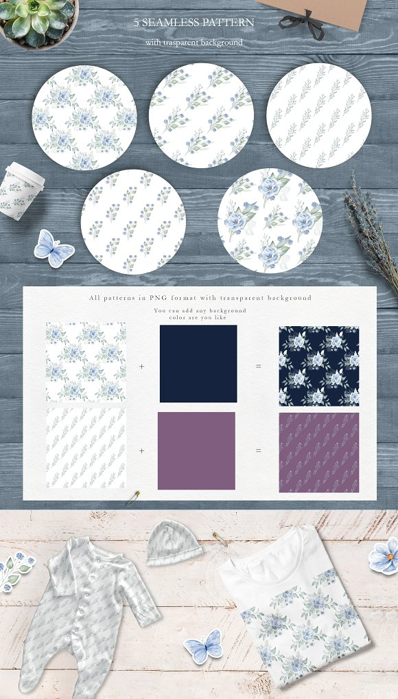Winter Morning Watercolor Set in Illustrations - product preview 6