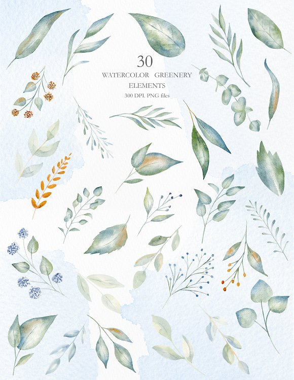 Winter Morning Watercolor Set in Illustrations - product preview 9