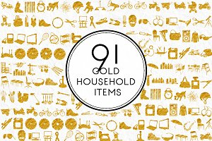 Gold Household Items