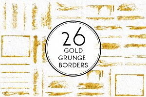 Gold Grunge Borders