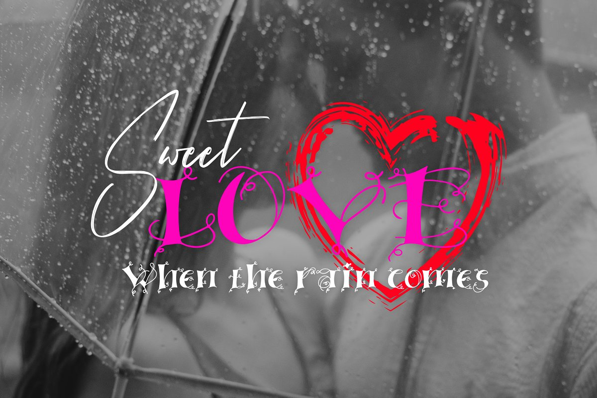 Linger in Display Fonts - product preview 3