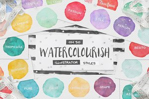 90 Watercolor AI Styles + EXTRAS!
