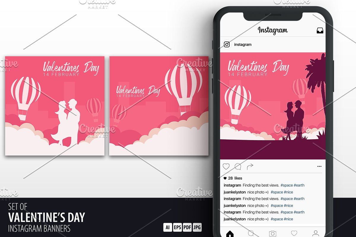Valentine's Day Banners for Insta