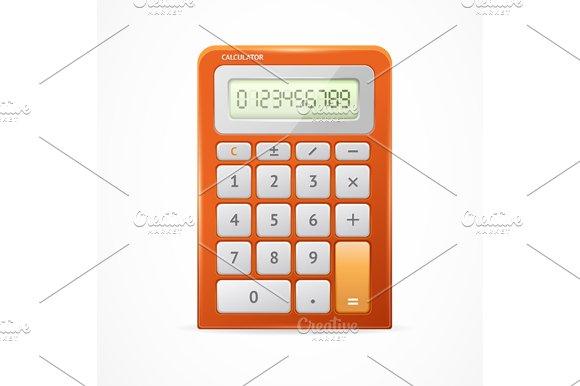 Calculator Red. Vector