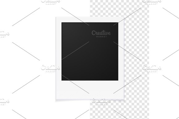 Photo Frames and Pin. Vector in Objects - product preview 1