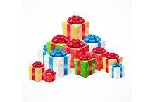 Present Box Set. Vector