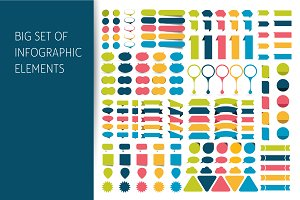 Big set of infographic elements.