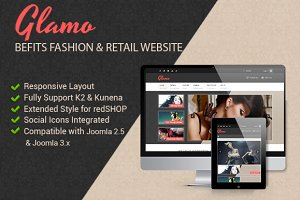 JSN Glamo - Befits Retail Websites
