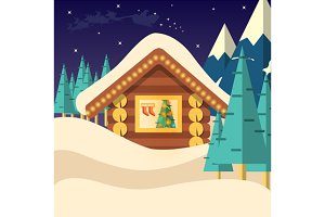 Christmas Eve vector background