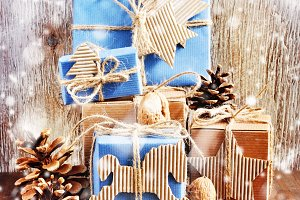 Christmas gift boxes, decoration