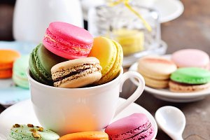 French macarons or macaroons