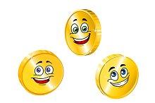 Golden smiling coins