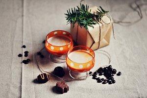 Homemade baileys, winter holidays