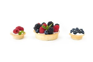 Berry and ricotta tarts