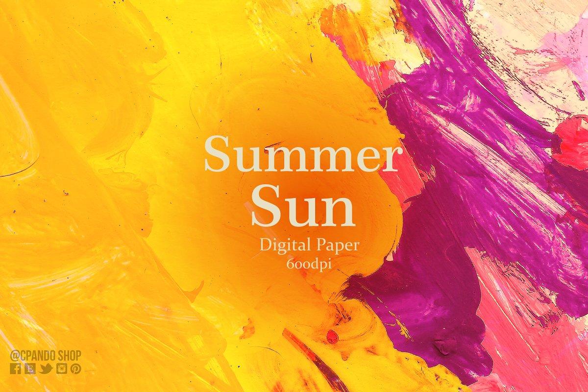 Summer Sun acrylic texture