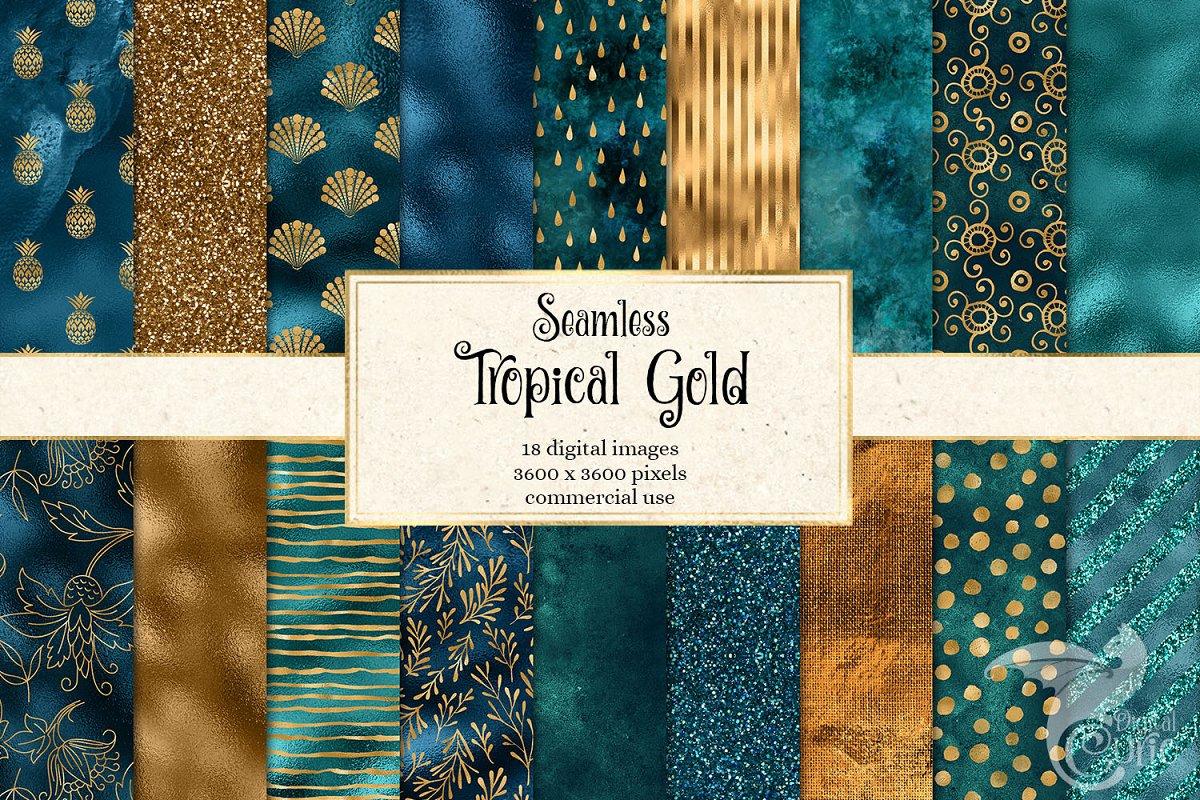 Tropical Gold Digital Paper