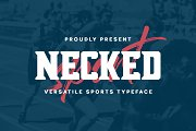 Necked - Versatile Sport Typeface