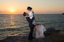 Romantic Couple at sunset.
