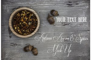 Autumn Acorns & Spices Mock Up