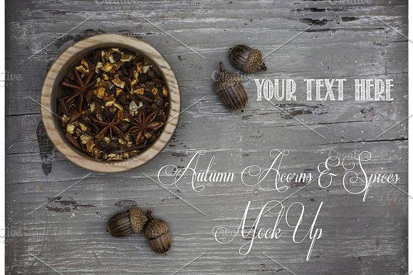 Autumn Acorns & Spices Mock Up