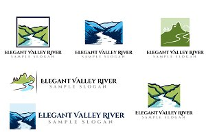 Elegant Valley River Logo Template