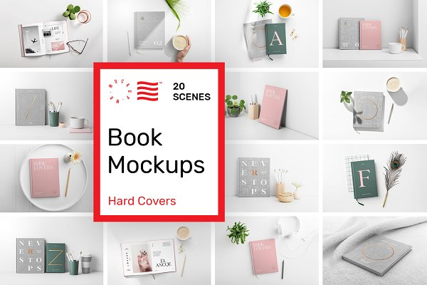 Book Cover Mockups - Hardcover Book