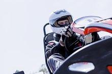 go-kart driver on the starting line