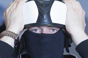 go-kart pilot portrait