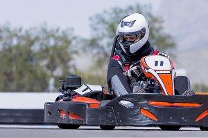 go-kart pilot racing