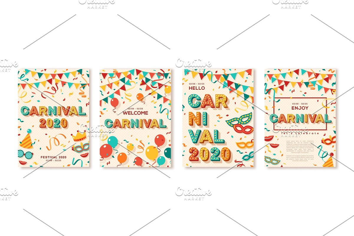 Set of 2020 Carnival cards