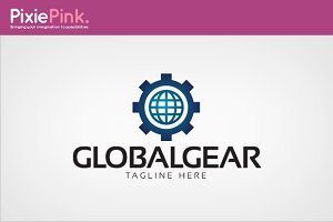 Global Gear Logo Template