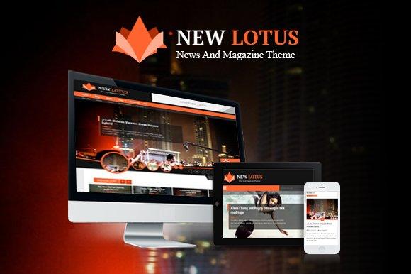 New Lotus Magazine WordPress theme