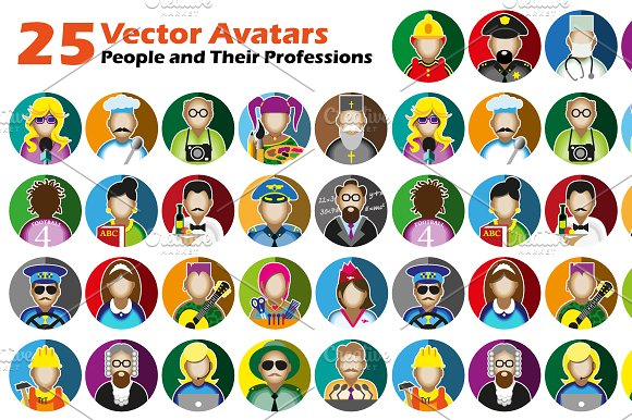 25  Icons With Profession