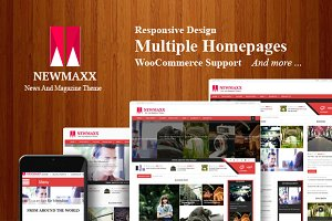 New Maxx Magazine WordPress theme