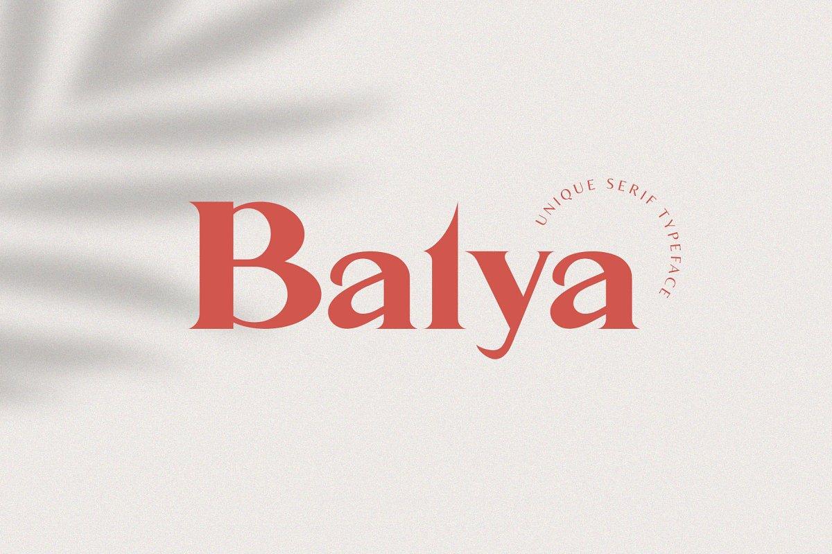 Balya Serif Font