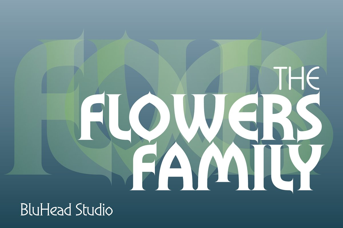 Flowers Family in Serif Fonts