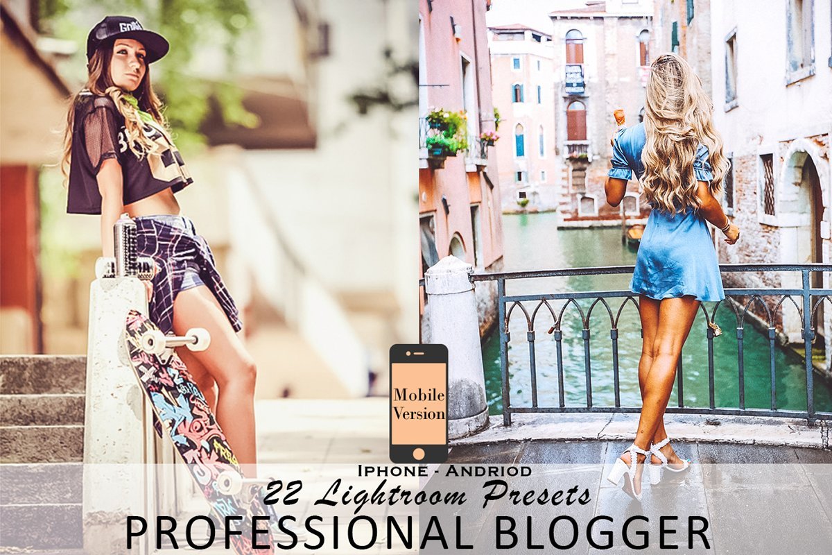 Professional blogger mobil Lightroom