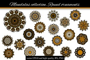 Mandalas collection. Round-2
