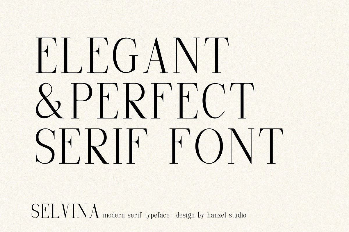 Selvina//a classic serif in Serif Fonts - product preview 1