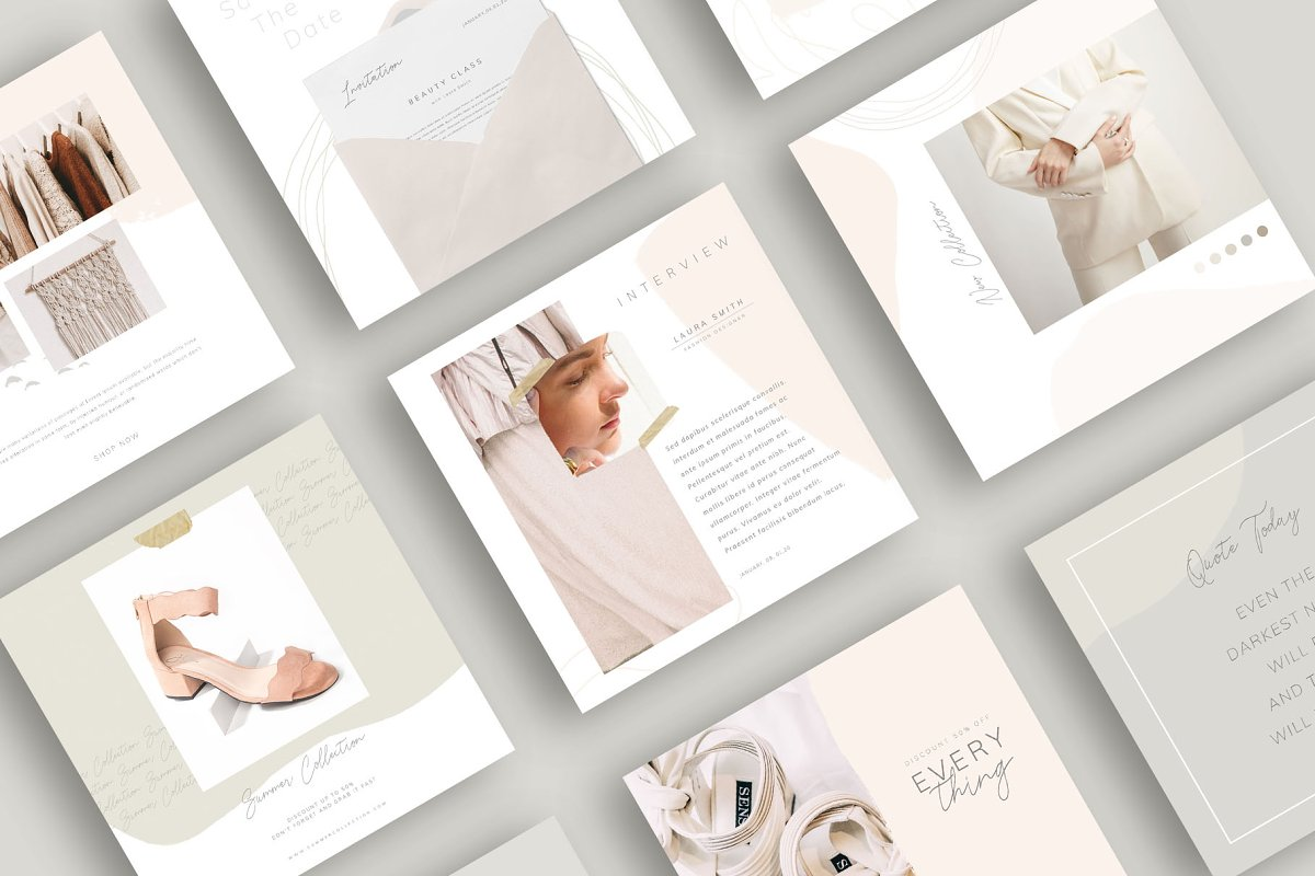 PS & CANVA Carlota - Social Media in Instagram Templates - product preview 3