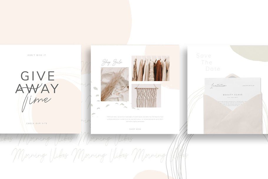 PS & CANVA Carlota - Social Media in Instagram Templates - product preview 5