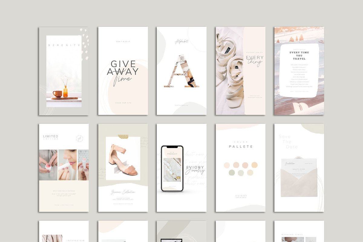 PS & CANVA Carlota - Social Media in Instagram Templates - product preview 9