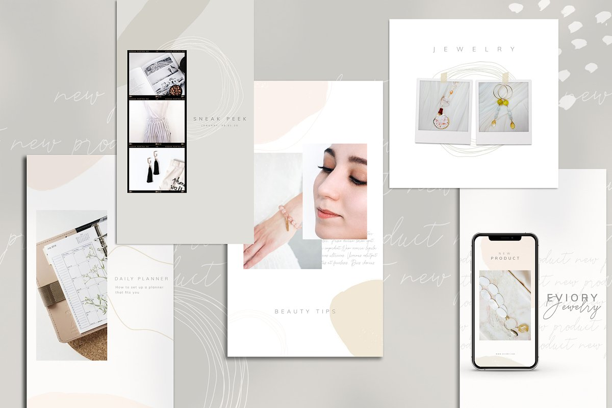 PS & CANVA Carlota - Social Media in Instagram Templates - product preview 2