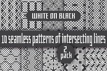 White lines on black - Pack 2