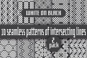 White lines on black - Pack 2