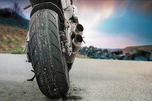 Motorbike landscape